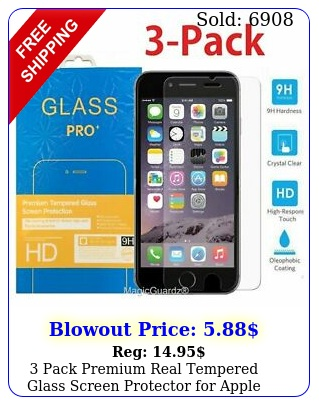 pack premium real tempered glass screen protector apple iphon