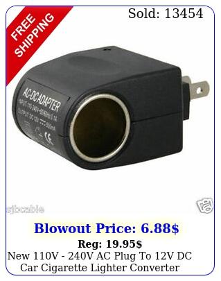 v v ac plug to v dc car cigarette lighter converter socket adapte