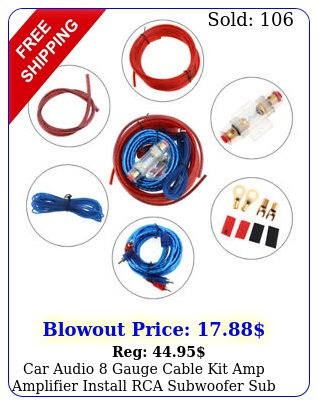 car audio gauge cable kit amp amplifier install rca subwoofer sub wirin