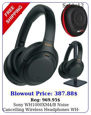 sony whxmb noise cancelling wireless headphones whxmb pro stand ki