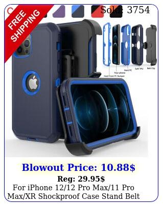 iphone pro max pro maxxr shockproof case stand belt clip holste