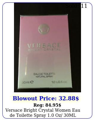 versace bright crystal women eau de toilette spray oz ml italy seale
