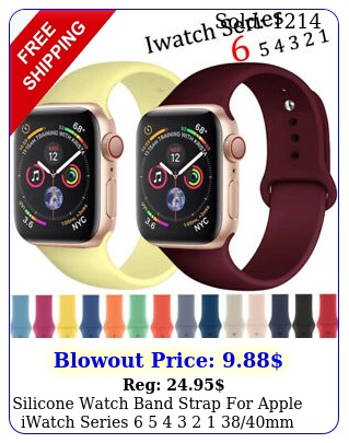 silicone watch band strap apple iwatch series    mm se m