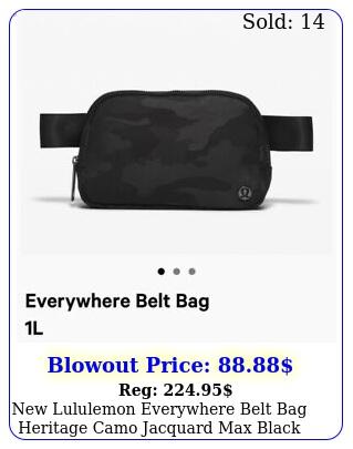 lululemon everywhere belt bag heritage camo jacquard max black graphite gre