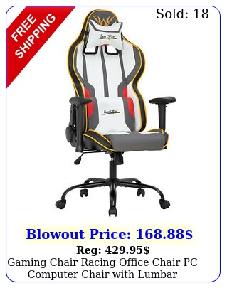 gaming chair racing office chair pc computer chair with lumbar support headres