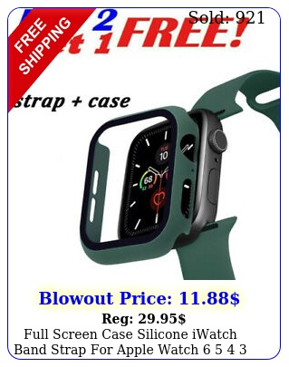 full screen case silicone iwatch band strap apple watch    s