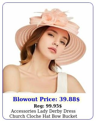 accessories lady derby dress church cloche hat bow bucket wedding bowler hat