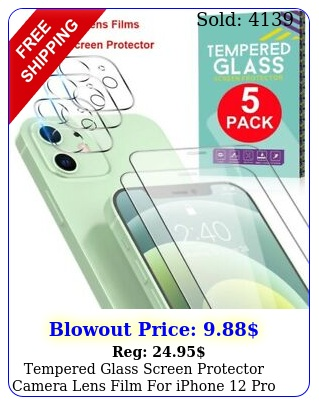 tempered glass screen protector  camera lens film iphone pro max min