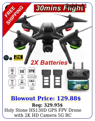 holy stone hsd gps fpv drone with k hd camera g rc quadcopter batterie