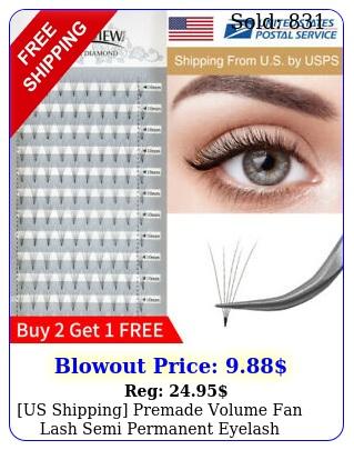 us shipping premade volume fan lash semi permanent eyelash extensio