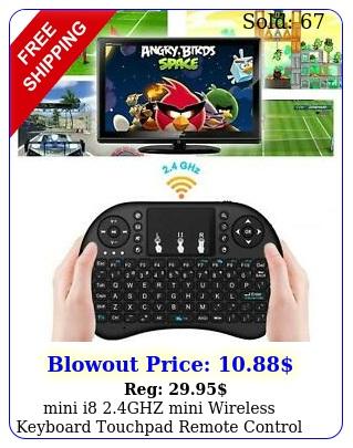mini i ghz mini wireless keyboard touchpad remote control usb charging cabl