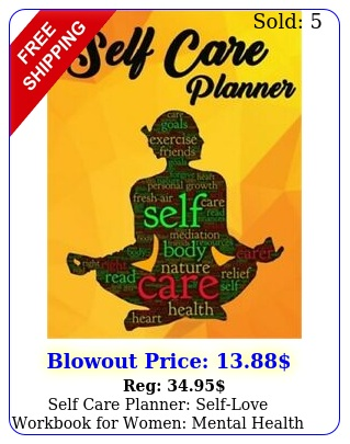 self care planner selflove workbook women mental health journal noteboo
