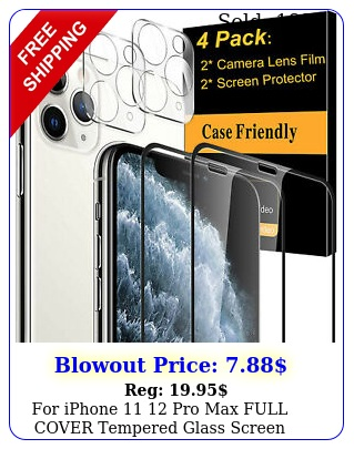 iphone  pro max full cover tempered glass screen protector camera len