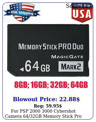 psp  cybershot camera gb memory stick pro duo adapter card us