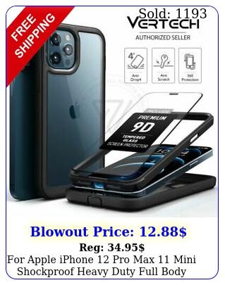 apple iphone pro max mini shockproof heavy duty full body case cove