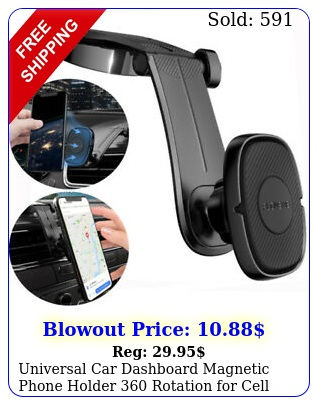 universal car dashboard magnetic phone holder rotation cell phone iphon
