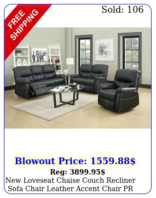 loveseat chaise couch recliner sofa chair leather accent chair p