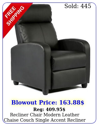 recliner chair modern leather chaise couch single accent recliner chair sof