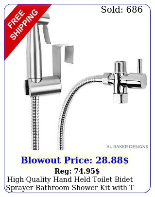 high quality hand held toilet bidet sprayer bathroom shower kit with t adapto