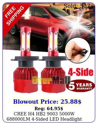 cree h hb w lm sided led headlight kit hilo power bulb