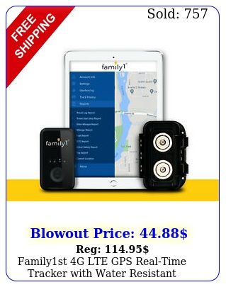 familyst g lte gps realtime tracker with water resistant magnetic cas