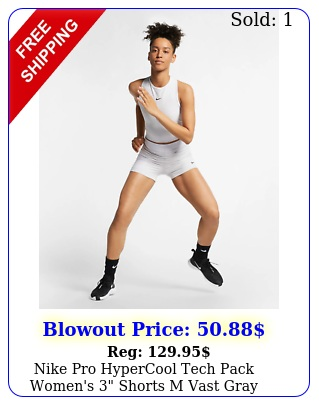 nike pro hypercool tech pack women's shorts m vast gray training runnin