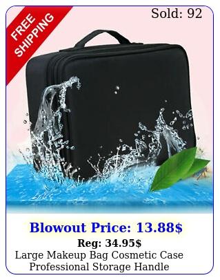 large makeup bag cosmetic case professional storage handle organizer travel ki