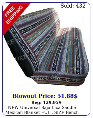 universal baja inca saddle mexican blanket full size bench truck seat cove