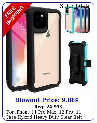 iphone pro max pro case hybrid heavy duty clear belt clip cove