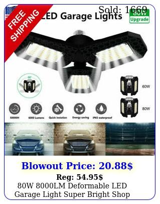w lm deformable led garage light super bright shop ceiling lights bulb r