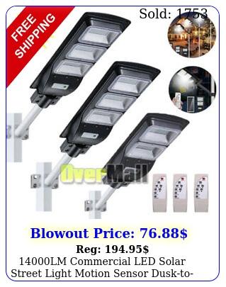 lm commercial led solar street light motion sensor dusktodawn remote pol