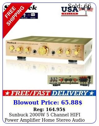 sunbuck w channel hifi power amplifier home stereo audio aux amp f