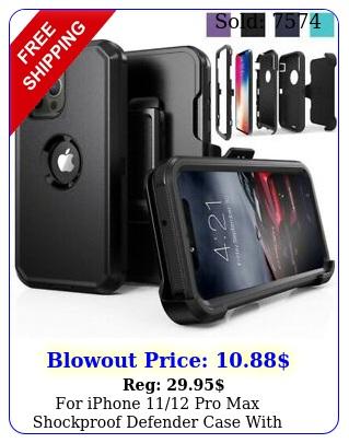 iphone pro max shockproof defender case with stand belt clip holste