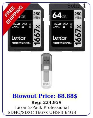 lexar pack professional sdhcsdxc x uhsii gb memory card w gb us
