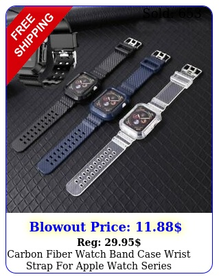 carbon fiber watch band case wrist strap apple watch series s
