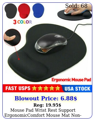 mouse pad wrist rest support ergonomiccomfort mouse mat nonslip laptop compute