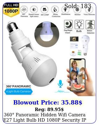 panoramic hidden wifi camera e light bulb hd p security ip camera u
