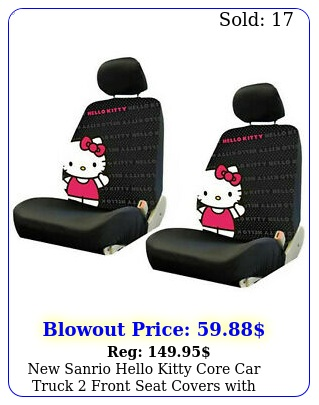 sanrio hello kitty core car truck front seat covers with headrest cover