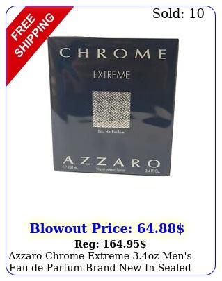 azzaro chrome extreme oz men's eau de parfum brand in seale