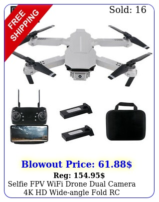 selfie fpv wifi drone dual camera k hd wideangle fold rc quadcopter toy gift