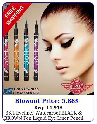 h eyeliner waterproof black brown pen liquid eye liner pencil make up