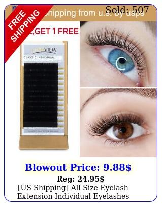 us shipping all size eyelash extension individual eyelashes natura