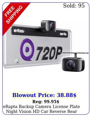 erapta backup camera license plate night vision hd car reverse rear view kit