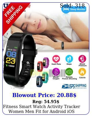 fitness smart watch activity tracker women men fit android ios heart rat