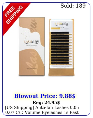 us shipping autofan lashes  cd volume eyelashes s fast fan eyelas