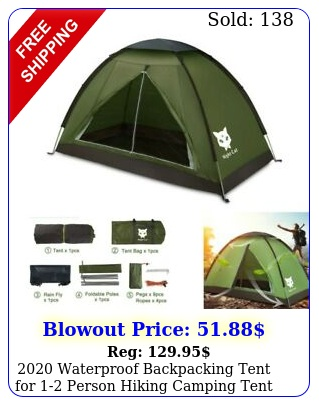 waterproof backpacking tent person hiking camping tent sun shelte