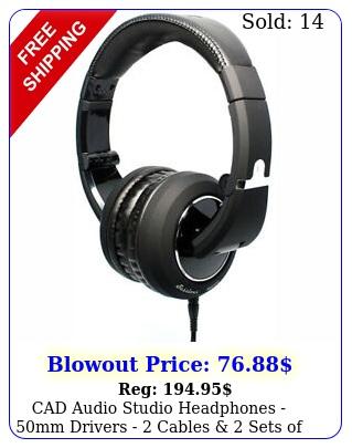 cad audio studio headphones mm drivers  cables  sets of earpad