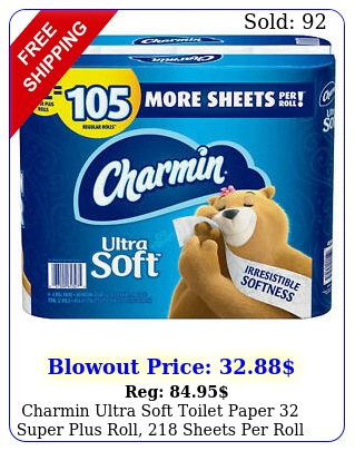 charmin ultra soft toilet paper super plus roll sheets rol