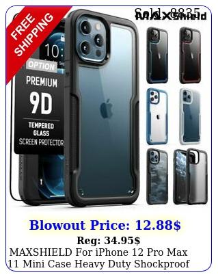 maxshield iphone pro max mini case heavy duty shockproof clear cove