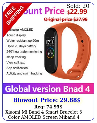 xiaomi mi band smart bracelet color amoled screen miband smartband fitnes